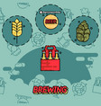 brewing flat concept icons vector image