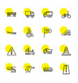 16 traffic icons vector image vector image