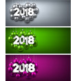 2018 new year banners set vector image vector image