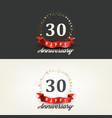 30 years happy anniversary banners vector image
