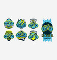 a colorful collection logos emblems mountain vector image