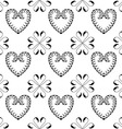 Abstract seamless pattern with heart vector image vector image