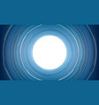 abstract white circle technology on blue vector image