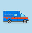 ambulance car side view emergency medical service vector image vector image