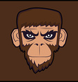 Angry cartoon chimp monkey vector image