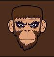 Angry cartoon chimp monkey vector image vector image