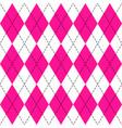 argyle plaid in plastic pink colors vector image