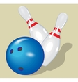 ball realistic bowling and vector image vector image