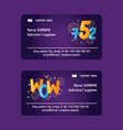 balloon font business cards vector image vector image