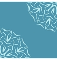 Blue background with flower pattern vector image