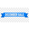 blue tape with december sale text vector image