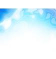 blue wavy organic shapes background vector image
