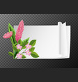 border template with pink flowers vector image vector image