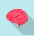 brain power icon flat style vector image