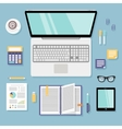 Business workplace flat vector image vector image