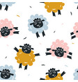 childish seamless pattern with cute sheep vector image vector image
