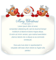 Christmas background with Santa and Rudolph vector image vector image