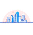 city skyline background buildings silhouette vector image vector image
