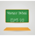 Class board with chalk background Eps 10 vector image