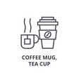 coffee mug tea cup line icon outline sign vector image vector image