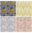 collection of vintage floral seamless pattern vector image vector image