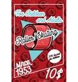 Color vintage roller Skates poster vector image vector image
