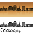 Colorado Springs V2 skyline in orange vector image vector image