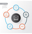 communication icons set collection of edit vector image vector image