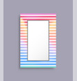 cover with frame and stripes vector image