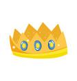 crown royalty gems luxury monarch icon vector image vector image