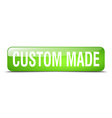 Custom made green square 3d realistic isolated web