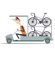 cycle technical help car transports bikes isolated vector image