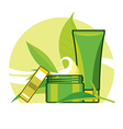 detoxifying cream and tonic for the care vector image vector image