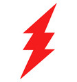 electric spark flat icon symbol vector image