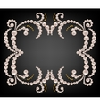Gold frame with pearls vector image vector image