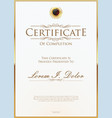 golden certificate or diploma template 3 vector image vector image
