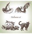 hand drawn halloween vector image vector image