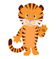 hand drawn tiger natural colors vector image vector image