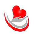 hands care with love symbol icon vector image