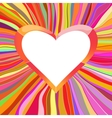 Heart with color lines background vector image vector image