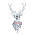 Hipster Stag vector image vector image