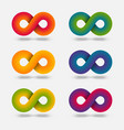 infinity abstract multicolor signs set vector image vector image