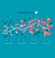 isometric city template vector image vector image
