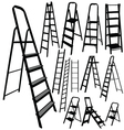 ladder silhouette in black color vector image vector image