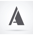 letter A design vector image vector image