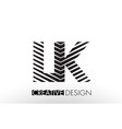 lk l k lines letter design with creative elegant vector image