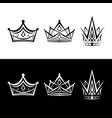 luxury crown vector image vector image