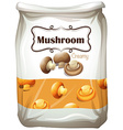 Mushroom in paper bag vector image