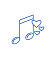 music note line icon concept music note flat vector image