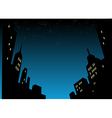 Night City Skyline Background vector image vector image